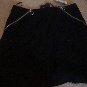 Paige black suede skirt SZ S NWT